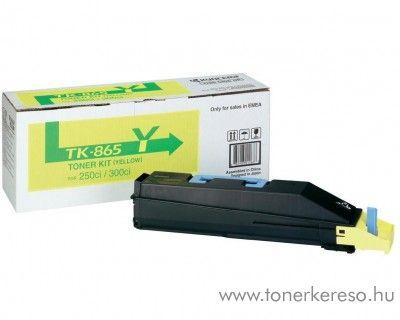 Kyocera TaskAlfa250ci (TK-865Y) eredeti yellow toner 1T02JZAEU0 Kyocera TASKalfa 300ci fénymásolóhoz