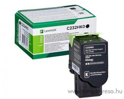 Lexmark C2425dw/C2535dw eredeti nagy kap. black toner C232HK0