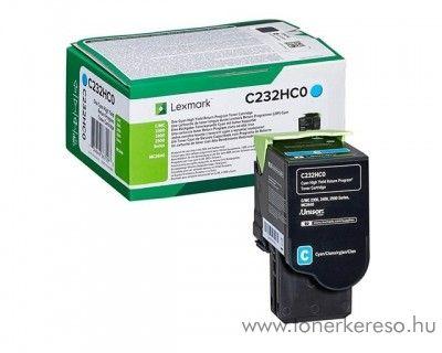 Lexmark C2425dw/C2535dw eredeti nagy kap. cyan toner C232HC0