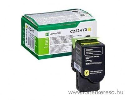 Lexmark C2425dw/C2535dw eredeti nagy kap. yellow toner C232HY0