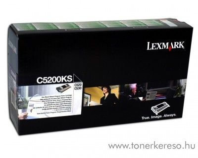 Lexmark C530 eredeti fekete black toner C5200KS Lexmark C530 lézernyomtatóhoz