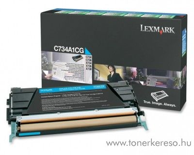 Lexmark C734/X734 eredeti cyan toner C734A1CG Lexmark C736n lézernyomtatóhoz