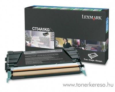 Lexmark C734/X734 eredeti fekete black toner C734A1KG Lexmark C736n lézernyomtatóhoz