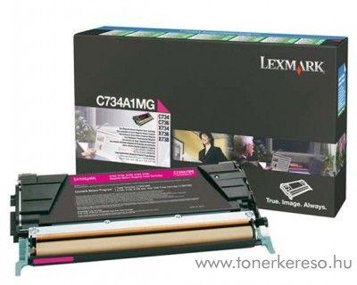 Lexmark C734/X734 eredeti magenta toner C734A1MG Lexmark C736dn lézernyomtatóhoz