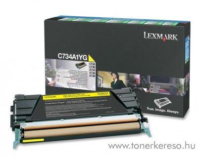 Lexmark C734/X734 eredeti yellow toner C734A1YG