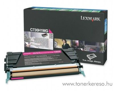 Lexmark C736/X736/738 eredeti magenta toner C736H1MG Lexmark C736n lézernyomtatóhoz