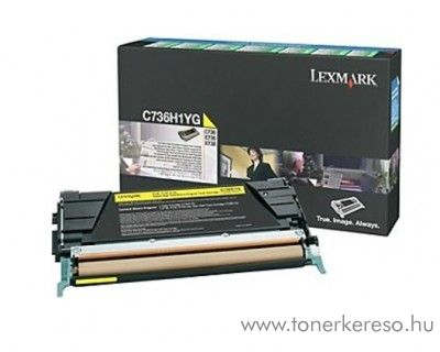 Lexmark C736/X736/738 eredeti yellow toner C736H1YG Lexmark C736n lézernyomtatóhoz