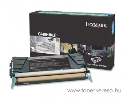 Lexmark C746/C748 eredeti black toner C746H1KG Lexmark C748dte lézernyomtatóhoz