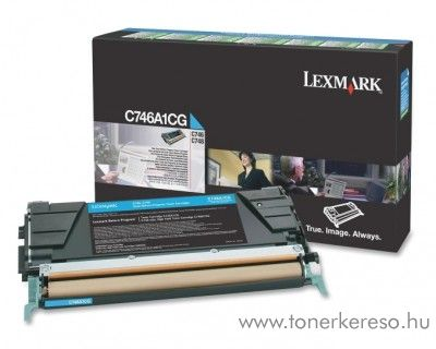 Lexmark C746/C748 eredeti cyan toner C746A1CG Lexmark C748dte lézernyomtatóhoz