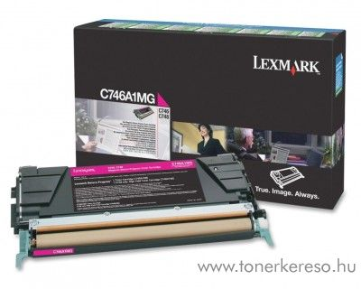 Lexmark C746/C748 eredeti magenta toner C746A1MG Lexmark C748dte lézernyomtatóhoz