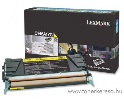 Lexmark C746/C748 eredeti yellow toner C746A1YG Lexmark C746dtn lézernyomtatóhoz