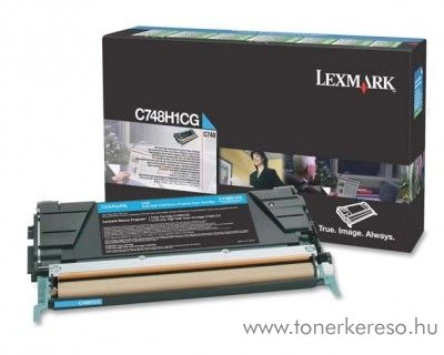 Lexmark C748 eredeti nagykap. cyan toner C748H1CG