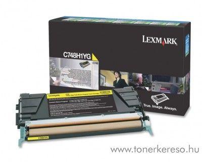 Lexmark C748 eredeti nagykap. yellow toner C748H1YG Lexmark C748dte lézernyomtatóhoz