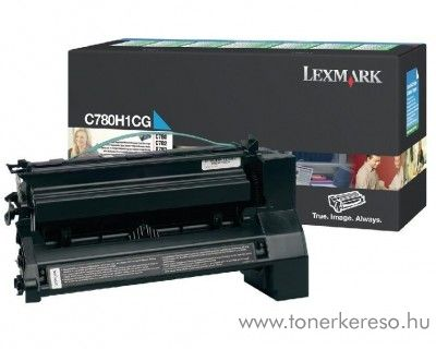 Lexmark C780/X782 eredeti cyan toner C780H1CG Lexmark C782n lézernyomtatóhoz