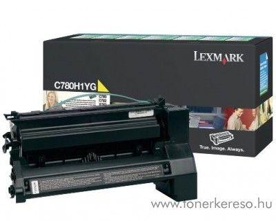 Lexmark C780/X782 eredeti yellow toner C780H1YG Lexmark C782dn lézernyomtatóhoz