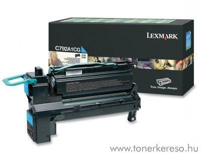 Lexmark C792 eredeti cyan toner C792A1CG Lexmark C792e lézernyomtatóhoz