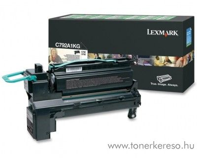 Lexmark C792 eredeti fekete black toner C792A1KG Lexmark C792de lézernyomtatóhoz