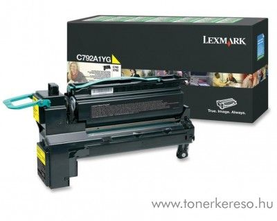 Lexmark C792 eredeti yellow toner C792A1YG Lexmark C792dte lézernyomtatóhoz