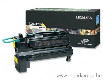 Lexmark C792 eredeti yellow toner C792X1YG Lexmark X792dtfe lézernyomtatóhoz