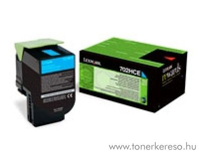 Lexmark CS310/410/510 eredeti cyan toner 70C2HCE Lexmark CS510dte lézernyomtatóhoz