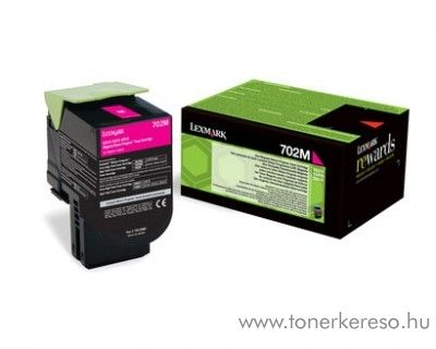 Lexmark CS310n/CS410n (702C) eredeti magenta toner 70C20M0 Lexmark CS310n lézernyomtatóhoz