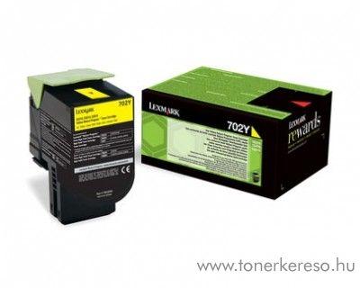 Lexmark CS310n/CS410n (702C) eredeti yellow toner 70C20Y0 Lexmark CS310n lézernyomtatóhoz