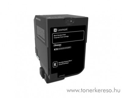 Lexmark CS720de/CS725de eredeti black toner 74C2SKE Lexmark CX725dthe lézernyomtatóhoz