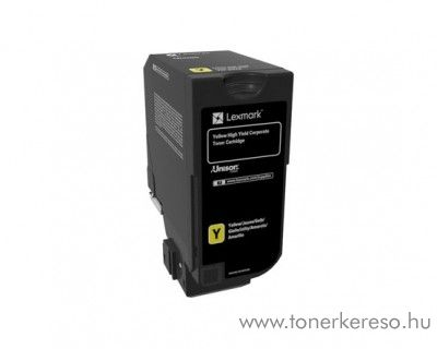 Lexmark CS725de eredeti yellow toner 74C2HYE Lexmark CS725de lézernyomtatóhoz