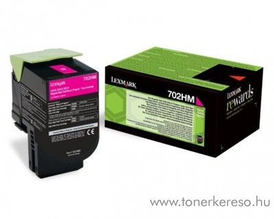 Lexmark CX310/410/510 eredeti magenta toner 70C2HM0