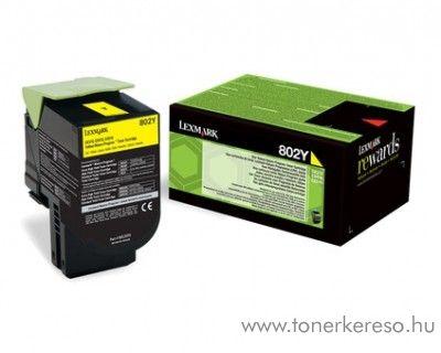 Lexmark CX310/410/510 eredeti yellow toner 80C20Y0 Lexmark CX510dhe lézernyomtatóhoz