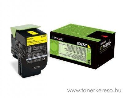 Lexmark CX310DN (802SY) eredeti yellow toner 80C2SY0 Lexmark CX510de lézernyomtatóhoz