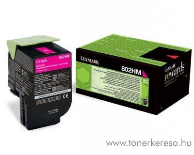 Lexmark CX510 eredeti nagy kap. magenta toner 80C2HM0