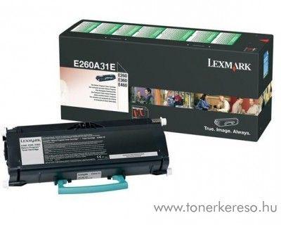 Lexmark E26x/36x/460 eredeti black toner E260A31E