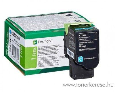 Lexmark MC2640/C2425dw/C2535dw eredeti cyan toner C2320C0 Lexmark C2535dw lézernyomtatóhoz