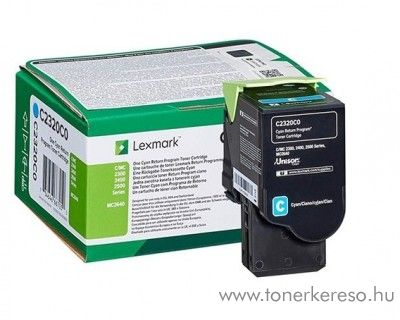 Lexmark MC2640/C2425dw/C2535dw eredeti cyan toner C2320C0