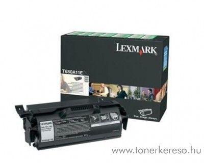 Lexmark T650/652/654 eredeti black toner 650A11E Lexmark T654dn lézernyomtatóhoz