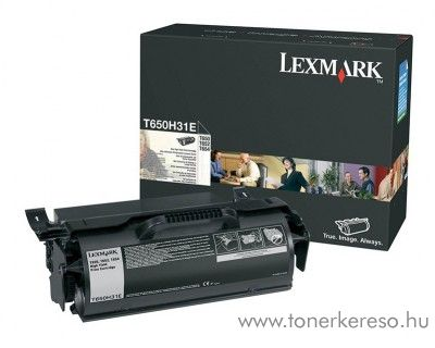 Lexmark T650/652/654 eredeti black toner T650H31E
