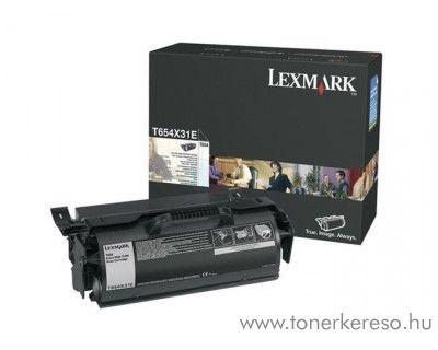Lexmark T654 (T65X) eredeti nagy kap. black toner T654X31E Lexmark T654dn lézernyomtatóhoz