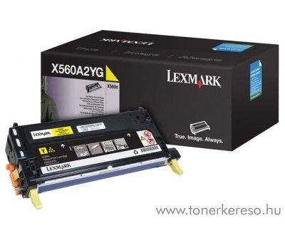 Lexmark X560 eredeti yellow toner X560A2YG Lexmark X560n lézernyomtatóhoz