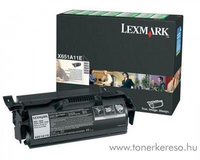 Lexmark X651 eredeti black toner X651A11E Lexmark X651de lézernyomtatóhoz