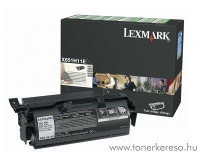 Lexmark X651 eredeti black toner X651H11E Lexmark X651de lézernyomtatóhoz