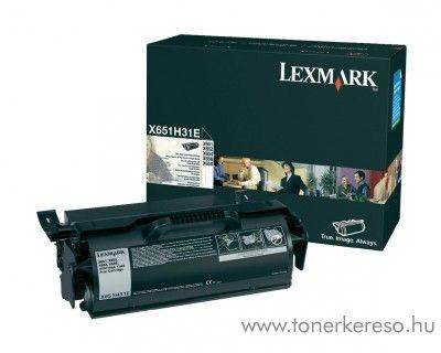 Lexmark X651/X652 (X65X) eredeti black toner X651H31E Lexmark X651de lézernyomtatóhoz