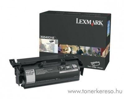 Lexmark X654/X656/X658 eredeti black toner X654X31E