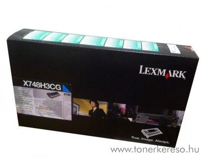 Lexmark X748 eredeti nagykap. cyan toner X748H3CG Lexmark X748de lézernyomtatóhoz