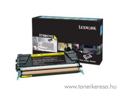 Lexmark X748 eredeti nagykap. yellow toner X748H3YG Lexmark X748de lézernyomtatóhoz