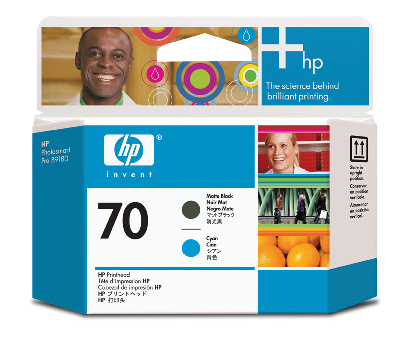 HP C9404A (No. 70) Matt. Bk / C nyomtatófej HP Designjet Z3100 tintasugaras nyomtatóhoz