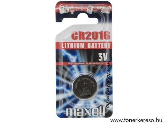 Gomb elem CR2016 MAXELL