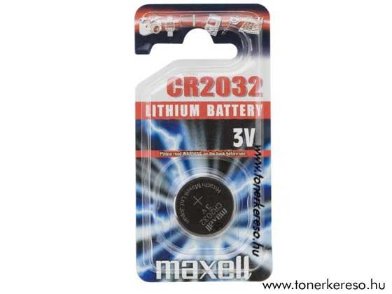 Gomb elem CR2032 MAXELL