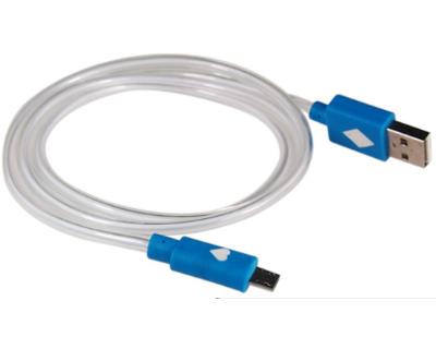 Micro USB – USB adatkábel és/vagy töltőkábel Kék LED fény