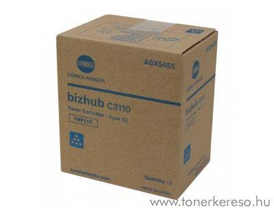 Minolta Bizhub C3110 (TNP51C) eredeti cyan toner A0X5455 Konica Minolta Bizhub C3110  fénymásolóhoz